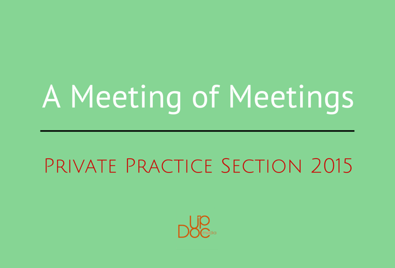 Gene Shirokobrod blod post about private practice section meeting