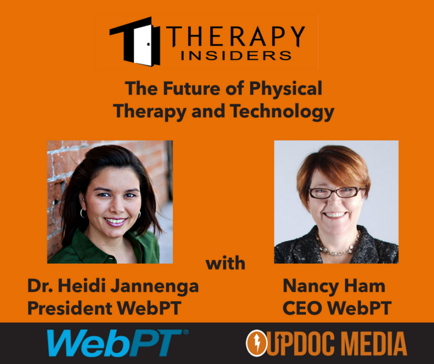 WebPT heidi Jannenga and Nancy Ham on Therapy Insiders podcast