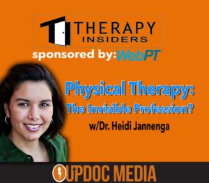 WEBPT president Heidi Jannenga on Therapy Insiders podcast